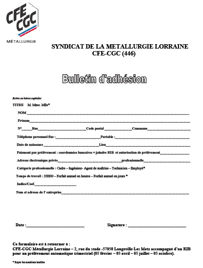 -Bulletin adhésion
